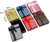 12 stuks Verpakkings doosjes ketting - Ruiten Design - 11x8x3 cm