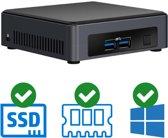 Intel NUC Compleet PC   Intel Core i3 / 7100U   4 GB DDR4   240 GB SSD   2x HDMI   Windows 10 Pro