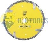 M&H diatools Diamant Slijpschijf Diamantschijf Doorslijpschijf Droog Zaagblad turbo met zijsegmenten universeel 200mm x asgat 22,2mm-voor droog en nat werk-Diamantgereedschappen