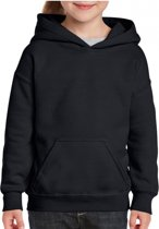 Zwarte capuchon sweater voor meisjes XS (104-110)