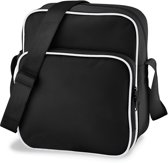 Bagbase Retro Day Bag Schoudertas Black/White 10 Liter