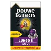 Douwe Egberts Lungo Intens Koffiecups - 4 x 40 cups - voordeelpak - 160 koffiecups