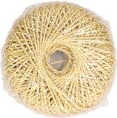 Glitter hobby touw 20 meter  Goud