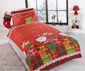 Kerstmis Dekbedovertrek - Kerst - Rudolph en de Kerstman - eenpersoons