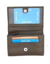 Kleine portemonnee leder taupe - grijs 29135