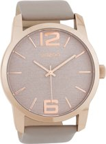 OOZOO Timepieces Taupe horloge  (48 mm) - Bruin