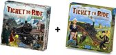 Ticket to Ride Europe + uitbreiding Ticket to Ride Nederland - Bordspel - Combi Deal