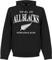 Nieuw Zeeland All Blacks Rugby Hooded Sweater - Zwart - S