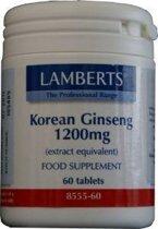 Lamberts Korean Ginseng 1200 mg Tabletten 60 st