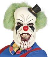 Latex Masker Horror Clown De Luxe - Met Haar