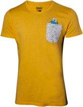Adventure Time - Yellow T-Shirt, backprint & chestpocket - 2XL