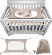 baby hangmat wieg -  hangmat voor in de box - wieg - veilig - verstelbaar - baby ledikant - draagbaar - katoen - hoge kwaliteit - baby hangmat veiligheid - goede nachtrust - comfort - babyshower - GRATIS opbergzak - grijs
