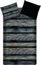 Beddinghouse Kelburn dekbedovertrek - Black - 2-persoons (200x200/220 cm + 2 slopen)