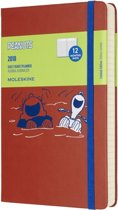 Moleskine Limited Edition Peanuts - 12 Months Daily Planner 2018 - Large - Coral Orange