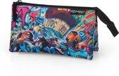 Delbag Graffiti - Thug - Etui - 3 vakken - 22 cm