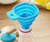 Opvouwbare Siliconen Trechter - Inklapbaar handig keuken hulp tool - In de kleur Blauw