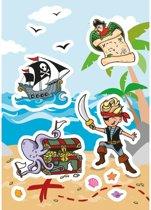 72x Piraat stickers - kinderstickers - stickervellen - knutselspullen