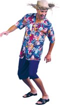 Luxe Hawaiian guy - Kostuum - Maat M/L - Paars