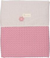 Koeka Wiegdeken Wafel/Flanel Antwerp - Blush Pink - 100*75 CM
