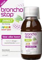 Bronchostop Direct Junior - met Honing - directe verlichting bij vastzittende hoest, kriebel- en prikkelhoest - 120ml