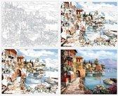 Dieux® - Schilderen op nummers -  Mediterraanse - 50 x 40 - Volwassenen