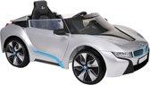 Elektrische Kinder Accu Auto BMW i8 Zilver met afstandsbediening