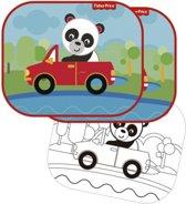 Fisher-price Zonnescherm Panda 44 X 36 Cm 2 Stuks + Kleurplaat