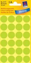 Avery 3174 Ronde Etiket 18mmLicht Groen