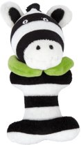Small foot Pluche rammelaar zebra