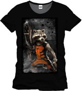 Guardians of the Galaxy - Rocket Mannen T-shirt - Zwart - S