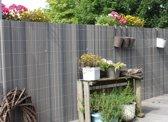 Balkonscherm kunststof grijs (300x90cm)