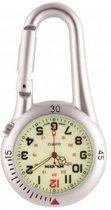 Verpleegkundigen horloge met Karabijnhaak- Zilver