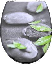 SCHÜTTE WC-Bril 82374 STONE - Duroplast - Soft Close - Afklikbaar - RVS-Scharnieren - Decor - 3-zijdige Print