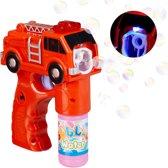 relaxdays Bellenblaas pistool brandweer - bellenblaaspistool - LED - bellenblaassop