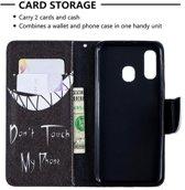 Let op type!! Gekleurde tekening patroon horizontale Flip lederen case voor Samsung Galaxy A40  met houder & kaartsleuven & portemonnee (SMIRK)