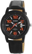 Akzent - Polshorloge - 45 mm - Quartz uurwerk - Zwart/oranje