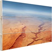 Luchtfoto van de Grand Canyon Hout 30x20 cm - klein - Foto print op Hout (Wanddecoratie)