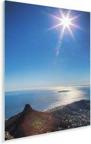 De zon schijnt over het Robbeneiland in Zuid-Afrika Plexiglas 80x120 cm - Foto print op Glas (Plexiglas wanddecoratie)