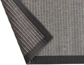 Linea Naturale vloerkleed tbv in/outdoor gebruik in Sisal-look Naturino Tweed antraciet 133x190cm