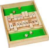 Dobbelspel: SHUT the BOX 34x23,5 cm, in hout, in doosje, 6+