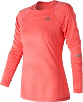 New Balance Seasonless Ls Sportshirt Dames - Orange