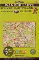 Steinwald-Stiftland. Naturpark Steinwald 1 : 50 000. Fritsch Wanderkarte