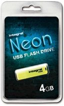 Integral INFD4GBNEONYL 4GB USB 2.0 Capacity Geel USB flash drive