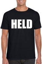 Held tekst t-shirt zwart heren 2XL