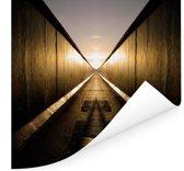 Gespiegelde Berlijnse Muur Poster 100x100 cm - Foto print op Poster (wanddecoratie woonkamer / slaapkamer) / Europese steden Poster