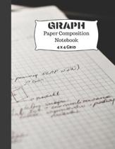 Graph Paper Composition Notebook: Quad Rule 4 x 4 Grid Paper Notebook - 8.5 x 11 and 110 Pages (Math and Science Practice Paper for Boys and Girls Stu