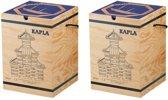 KAPLA Blank + Voorbeeldboek Deel 2 - 2 x 280 Plankjes