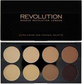 Makeup Revolution Ultra Cover and Concealer Palette - Medium/Dark