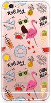 iPhone 6 Plus/6S Plus Hoesje Summer Flamingo