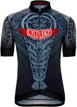 Cycology Aztec Performance Fit jersey - heren fietsshirt - maat XL - rood wit zwart